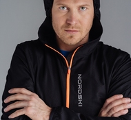 Ветровка NORDSKI RUN BLACK/ORANGE